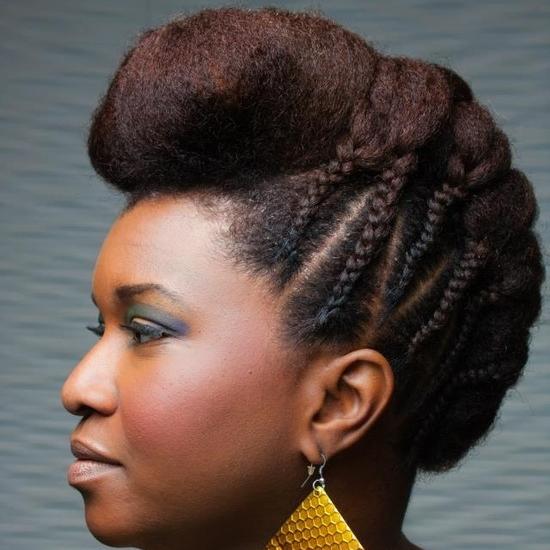 Coiffure pour cheveux naturels Afro