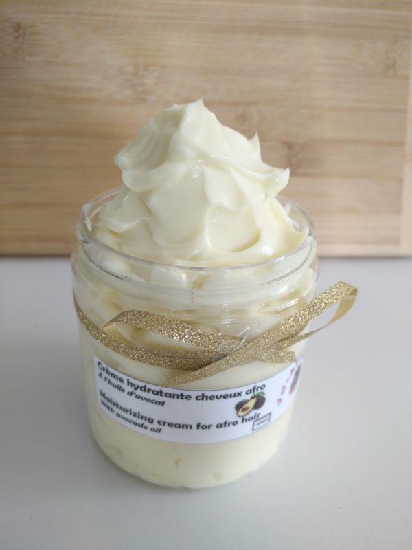 Crème hydratante pour cheveux crépus
